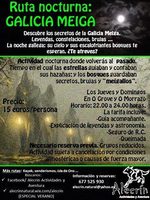 Ruta noctura con Alecrín: Galicia Meiga