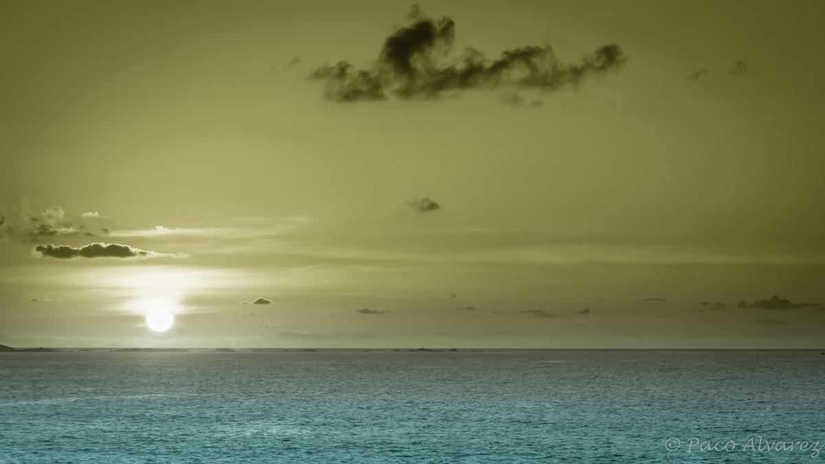 Cando o sol se agocha no océano Atlántico