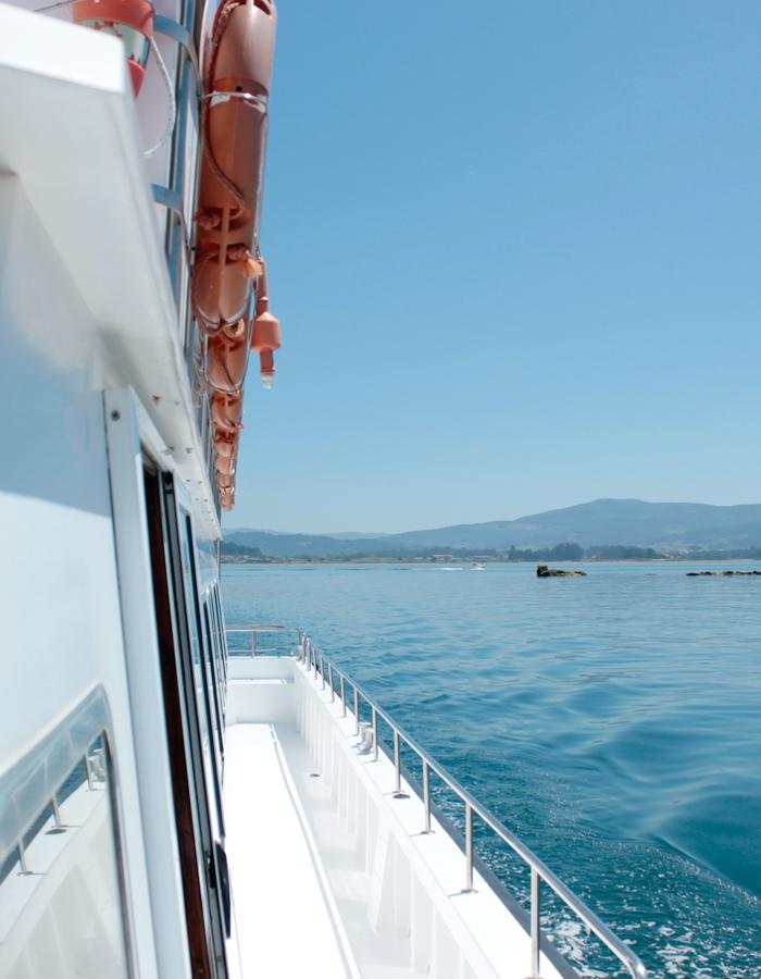 Ruta barco cortegada