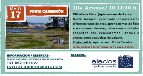 Excursión en punta Carreirón. Illa de Arousa