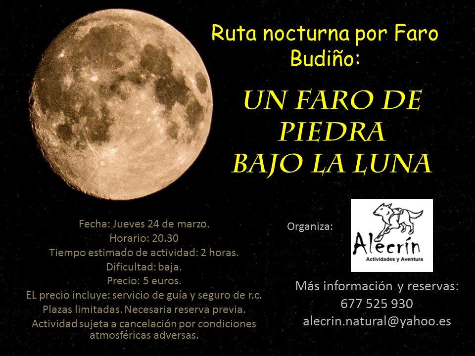 Ruta nocturna por Faro Budiño
