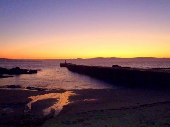 Amanecer en la isla de Ons, comienza un nuevo día