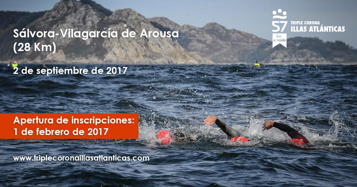 Apertura de inscricións proba de natación Tripla Coroa Illas Atlánticas Sálvora-Vilagarcía de Arousa (28 km)