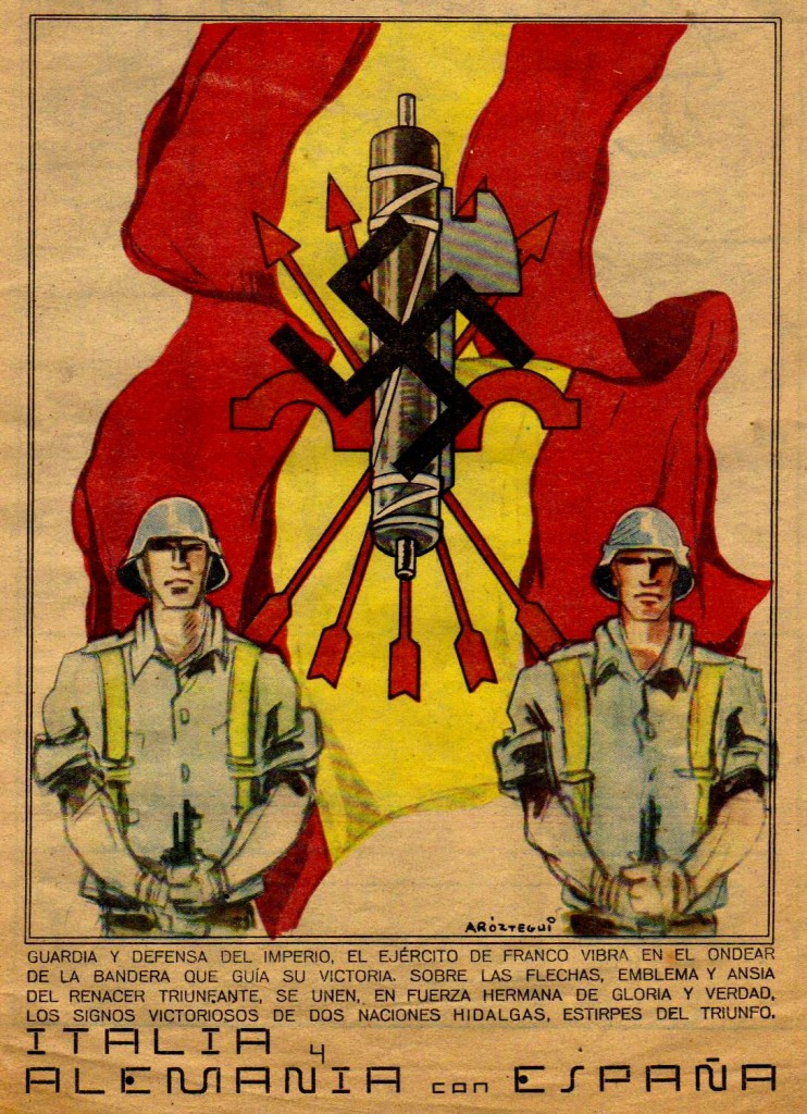 Aróztegui. Portada de Flechas y Pelayos n96_20_ noviembre_1938)