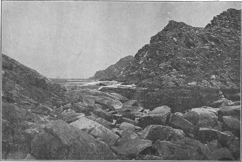 Boca da Lagoa de Cíes por foto Pacheco en 1927
