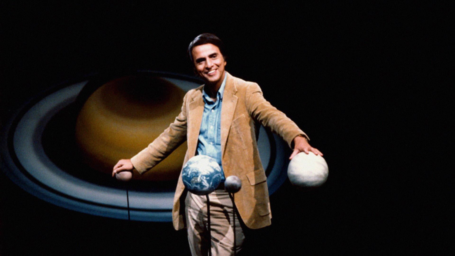 Cosmos, na beira do océano cósmico. Carl Sagan