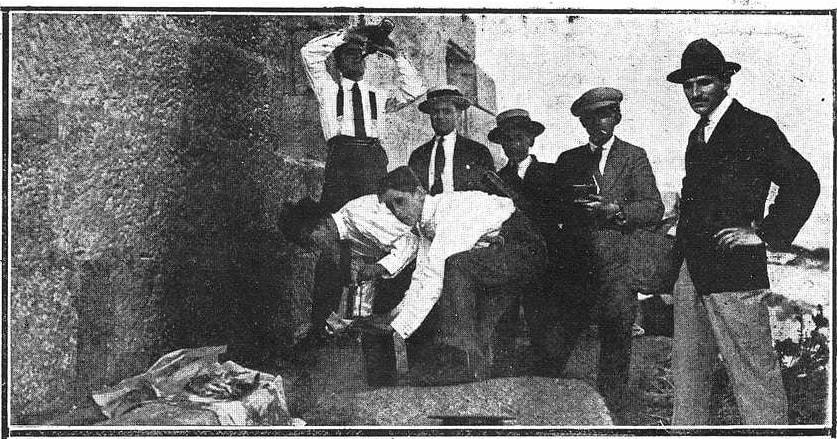 Sardiñada nas Cíes, verán de 1922