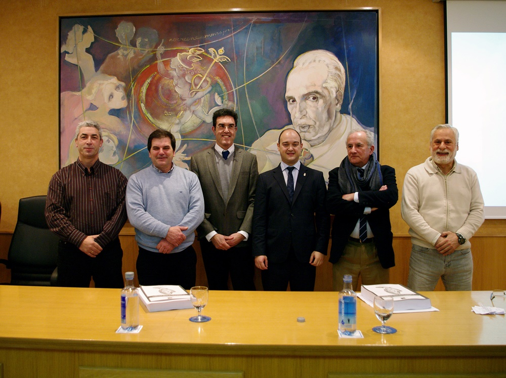 De esquerda a dereita Rufino Vieira, José Carlos Fernandes Antunes, Pedro Raposo de Almeida, David José Nachón, José Carlos Otero e Fernando Cobo