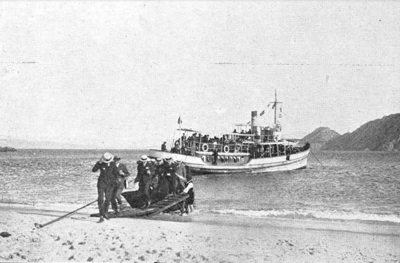 Excursionistas en Cíes no verán de 1922