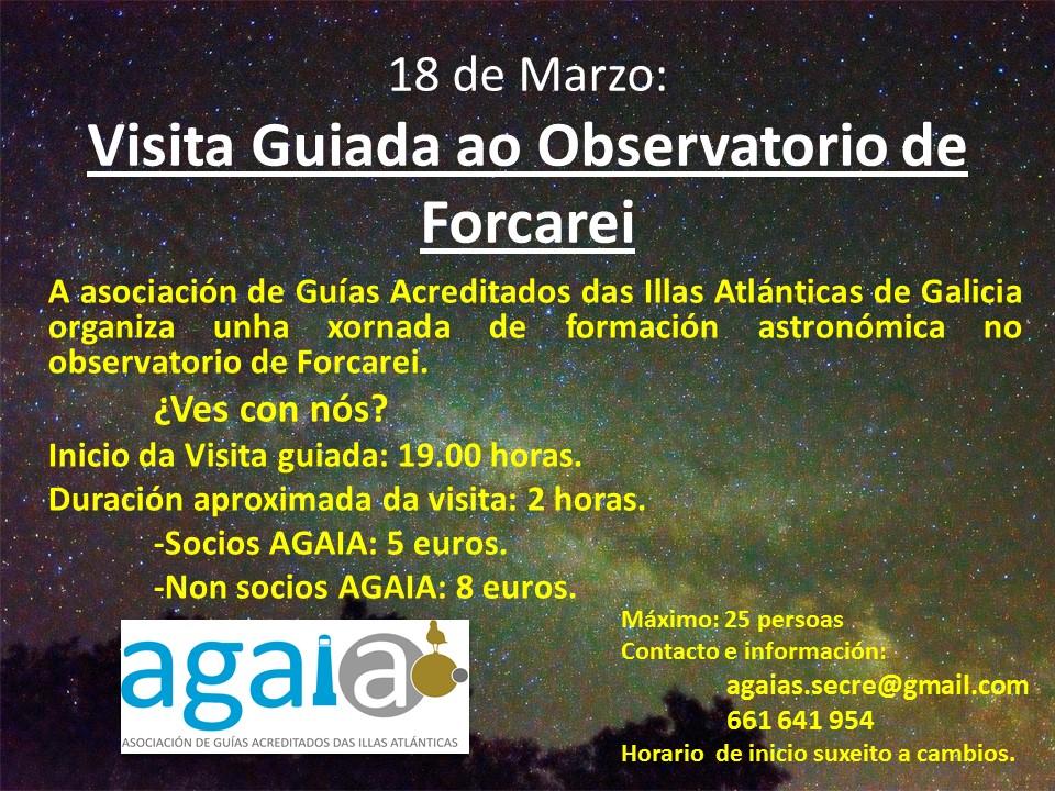 Xornada de formación astronómica no observatorio de Forcarei