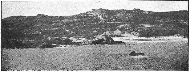 Taberna e almacén de Sálvora en 1921