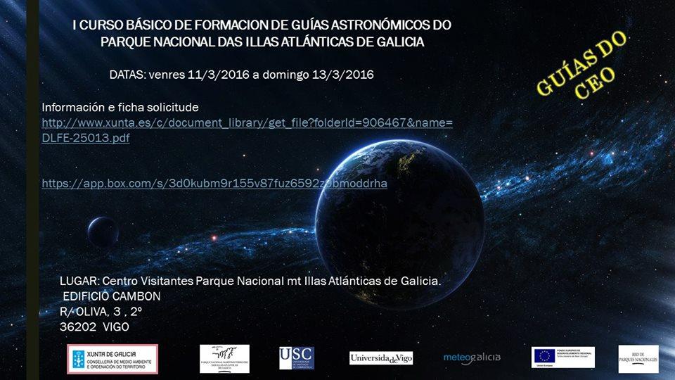 I Curso básico de formación de Guías astronómicos del Parque Nacional