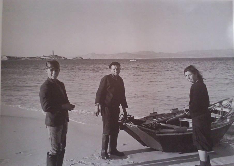 Os Sotelo Herbello, habitantes das Cíes en 1962