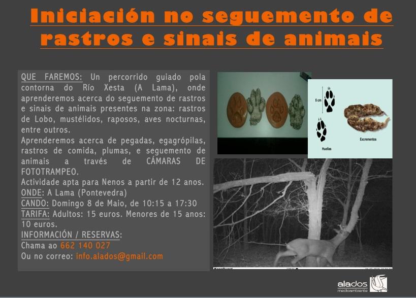 Iniciación no seguemento de rastros e sinais de animais