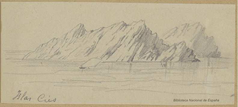Interpretación dun debuxo das illas Cíes avanzado o século XIX