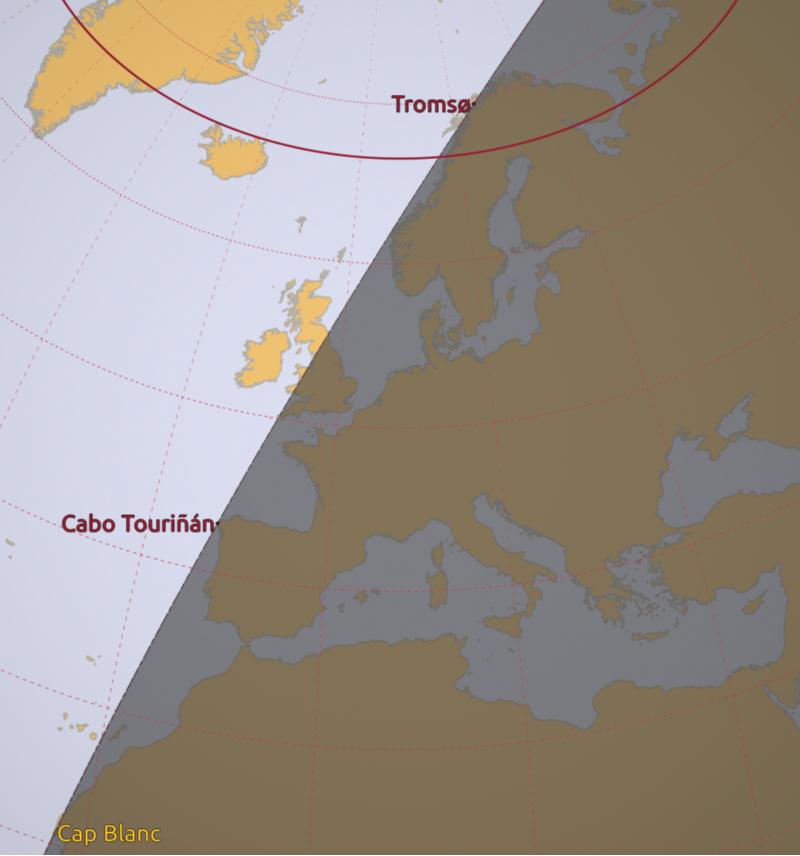A Costa da Morte é o último lugar da Europa continental no que se pon o sol durante dous meses ao ano