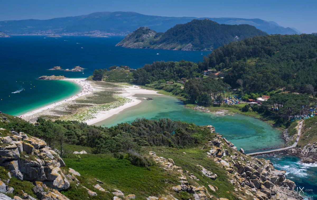 Vista parcial do arquipélago das illas Cíes