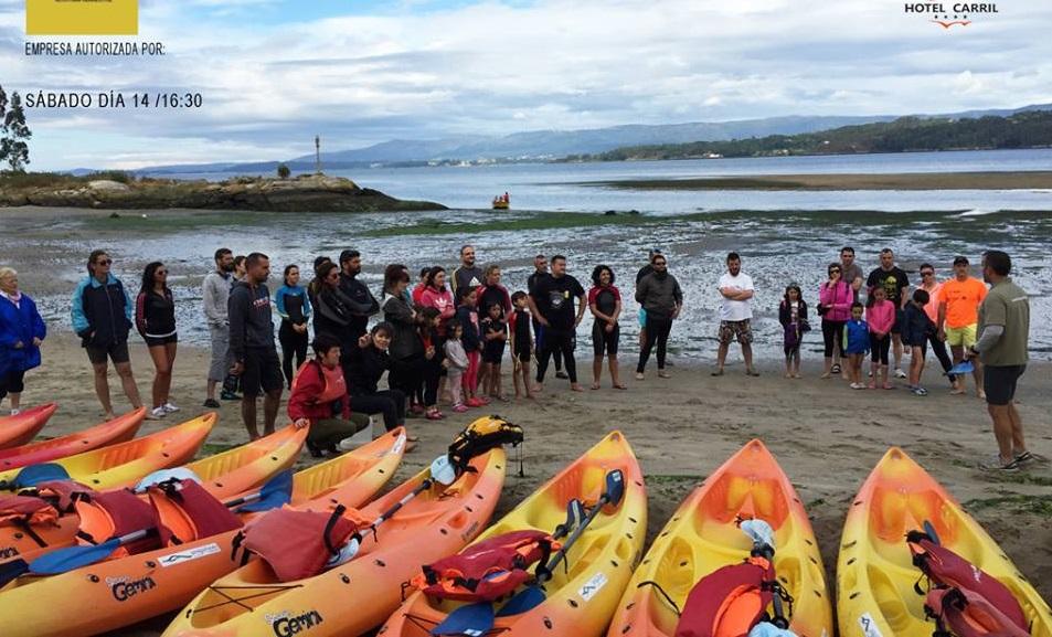 Kayak y senderismo en Cortegada y almejas de Carril