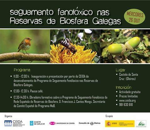 Xornada de seguemento fenolóxico nas Reservas da Biosfera Galegas