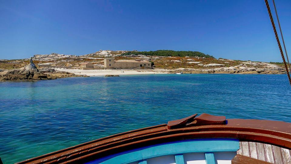 Navegación, fondeo e visita á illa de Sálvora