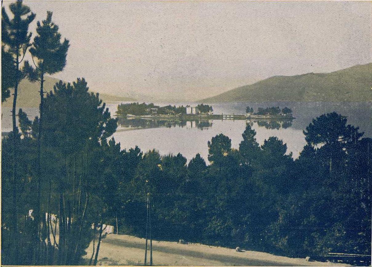 Ría de Vigo. Enseada de San Simón en 1930