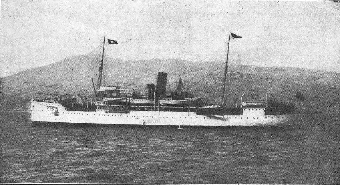 O buque Santa Isabel antes do seu naufraxio