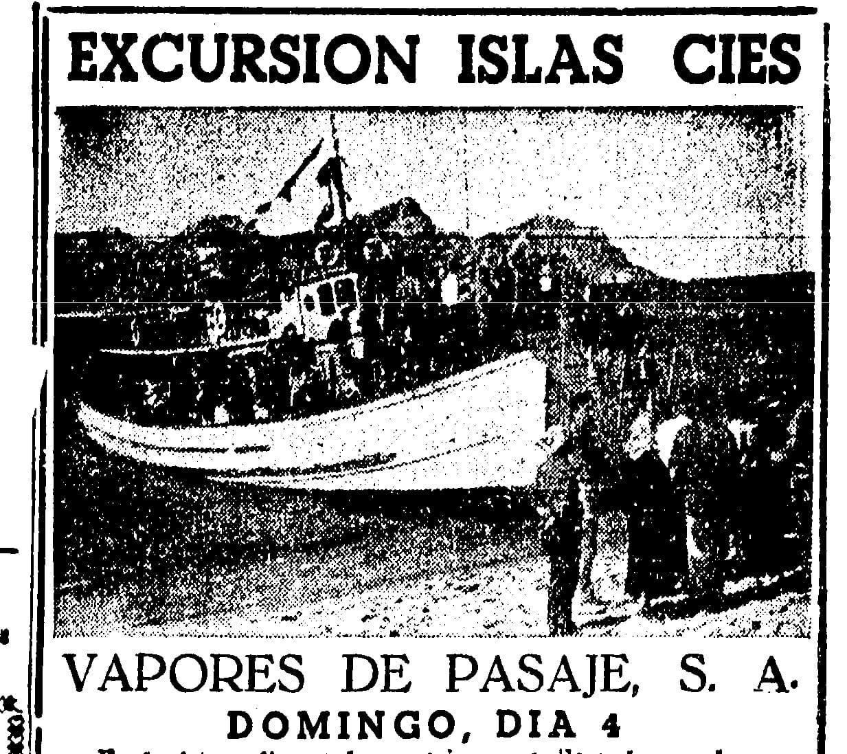"""Excursión ás illas Cíes con """"Vapores de Pasaje"""" (I)"""