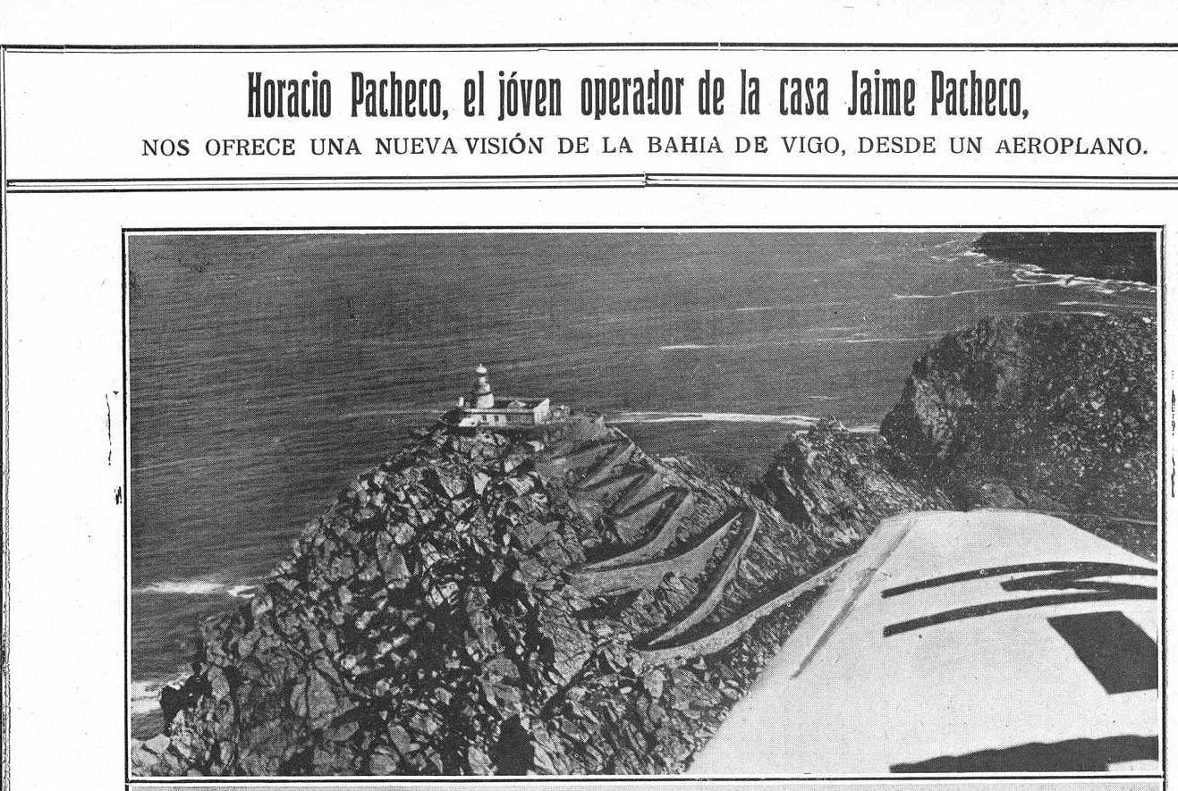 Horacio Pacheco sobrevoando a ría de Vigo. Montefaro, 1928 (I)