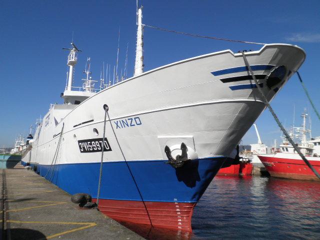 Visita un buque conxelador con Vigo Pesqueiro