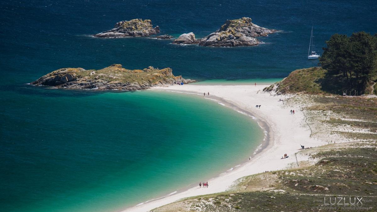 Maxestoso areal de Rodas nas illas Cíes