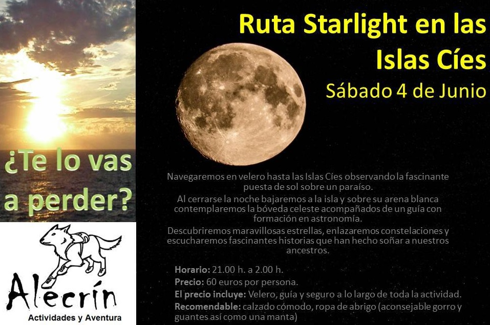 Starlight en las islas Cíes con Alecrín/sábado 4 de junio