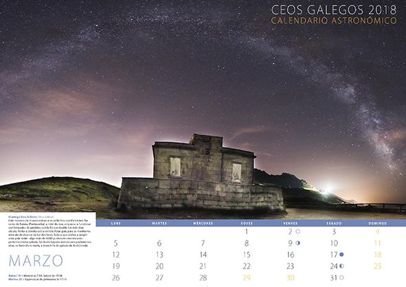 Ceos galegos 2018. Calendario astronómico