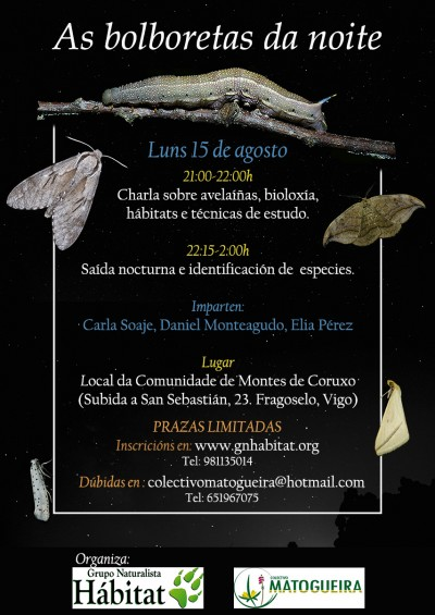 As bolboretas da noite co Grupo Naturalista Hábitat e o Colectivo Matogueira