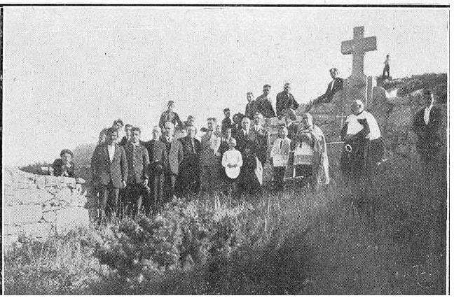 Bendición cemiterio das illas Cíes en 1927