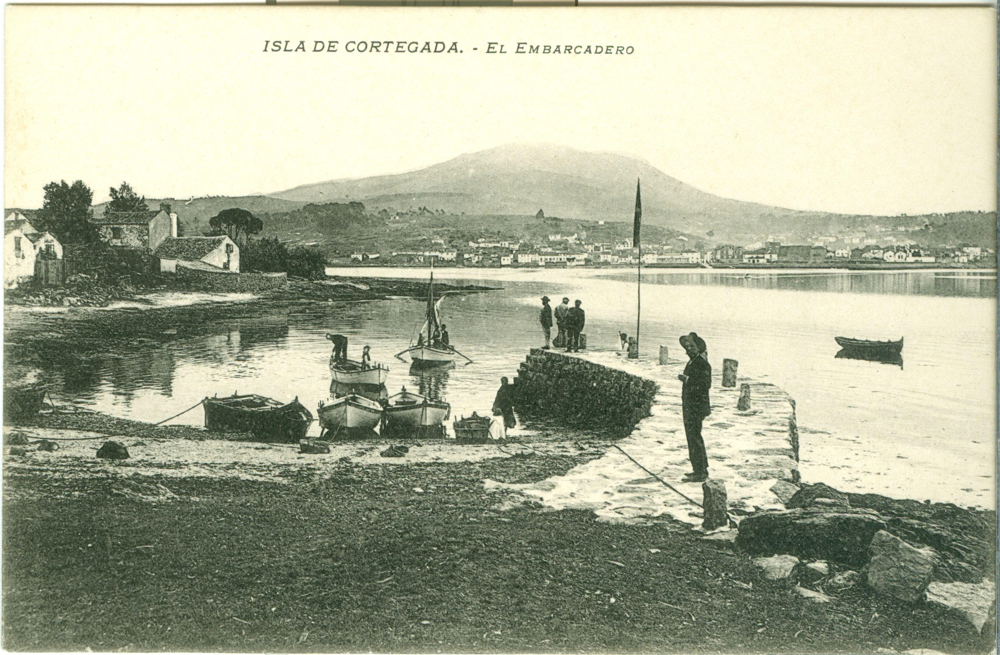 O embarcadoiro de Cortegada en 1906