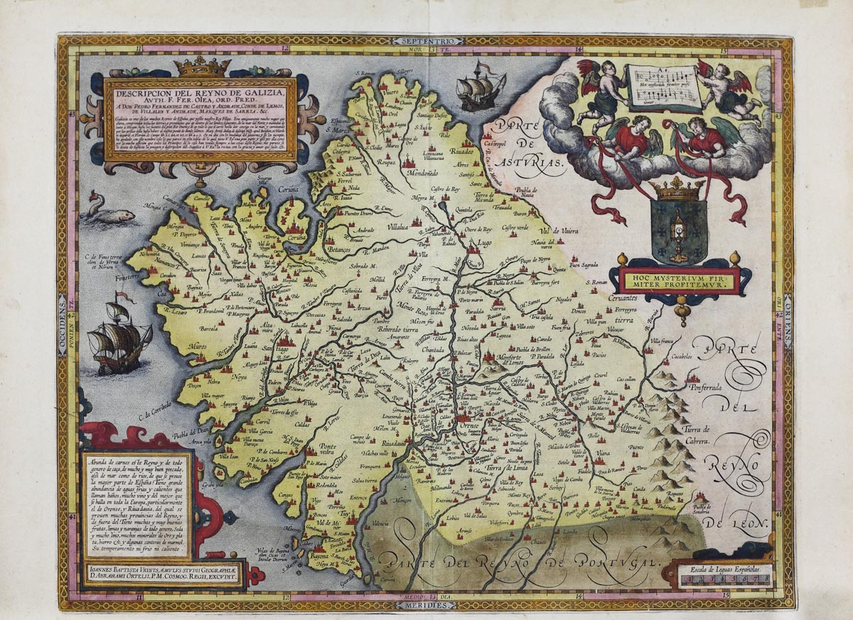 Un convite a mergullarse na historia de Galicia cos vellos mapas dos séculos XVII ao XX