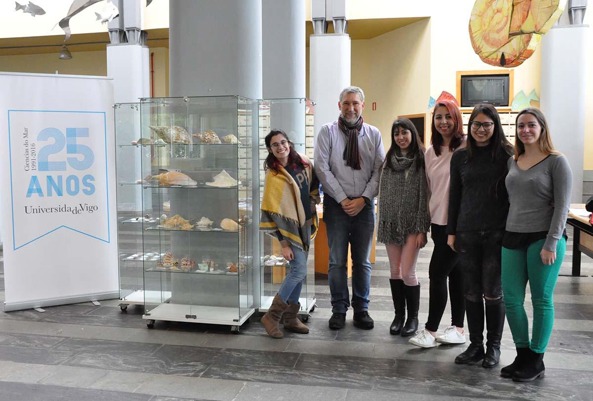 Ciencias do Mar inaugura unha exposición sobre malecoloxía con moluscos do Atlántico, o Pacífico e o Índico