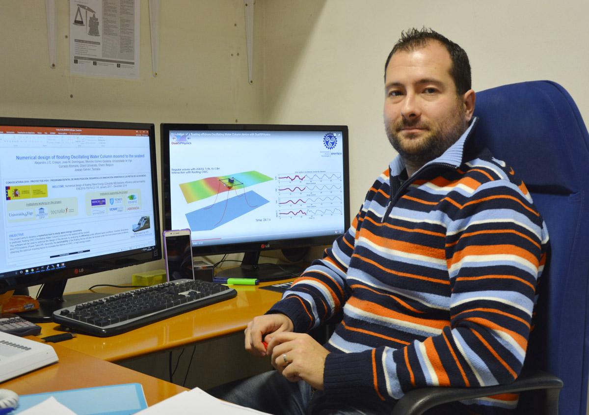 O Proxecto Welcome optimizará os dispositivos de enerxía das ondas a través da simulación por ordenador