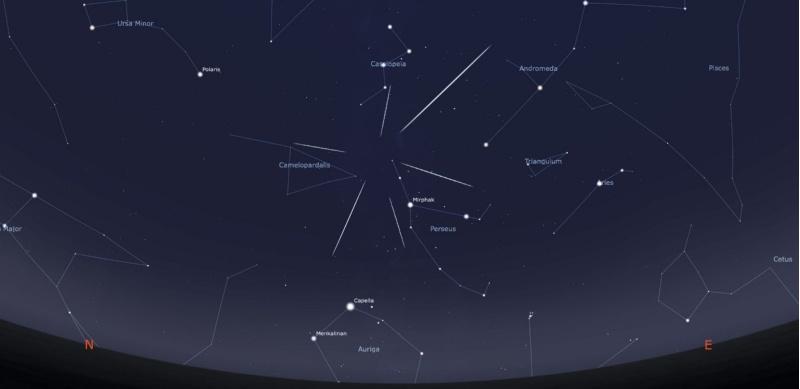 Perseidas, o máximo da chuvia de estrelas producirase na noite do día 12 ao 13 de agosto