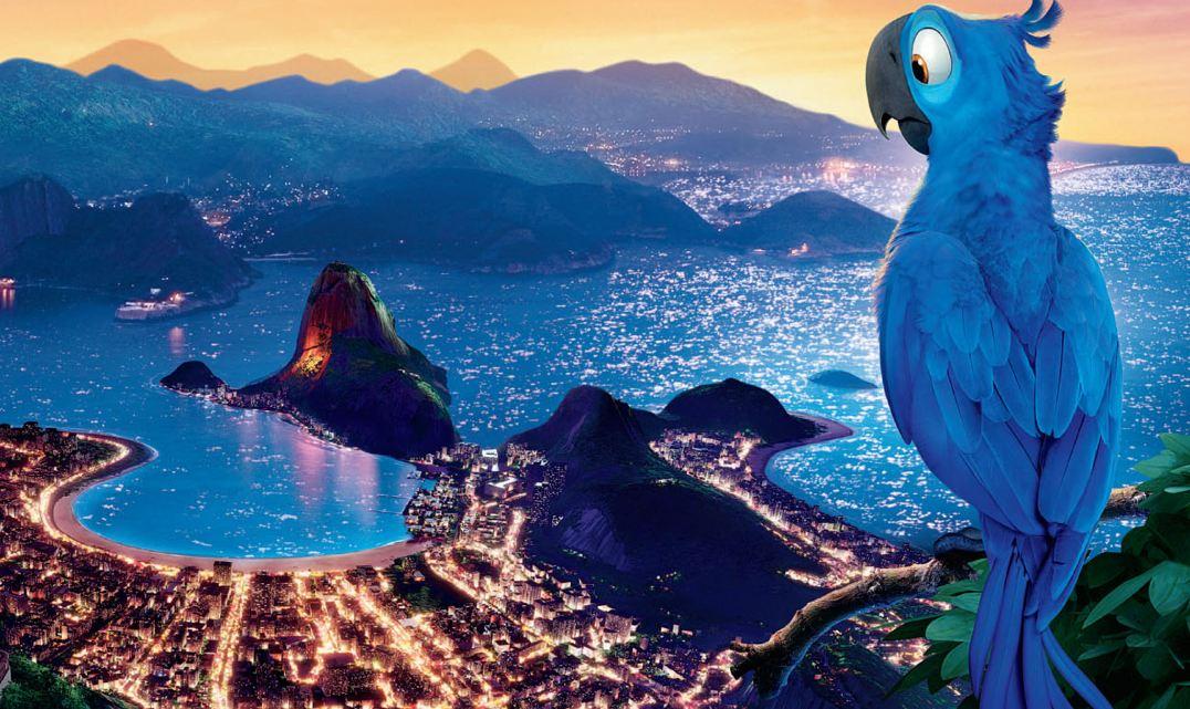 Cine en familia no centro de visitantes do Parque Nacional: Río