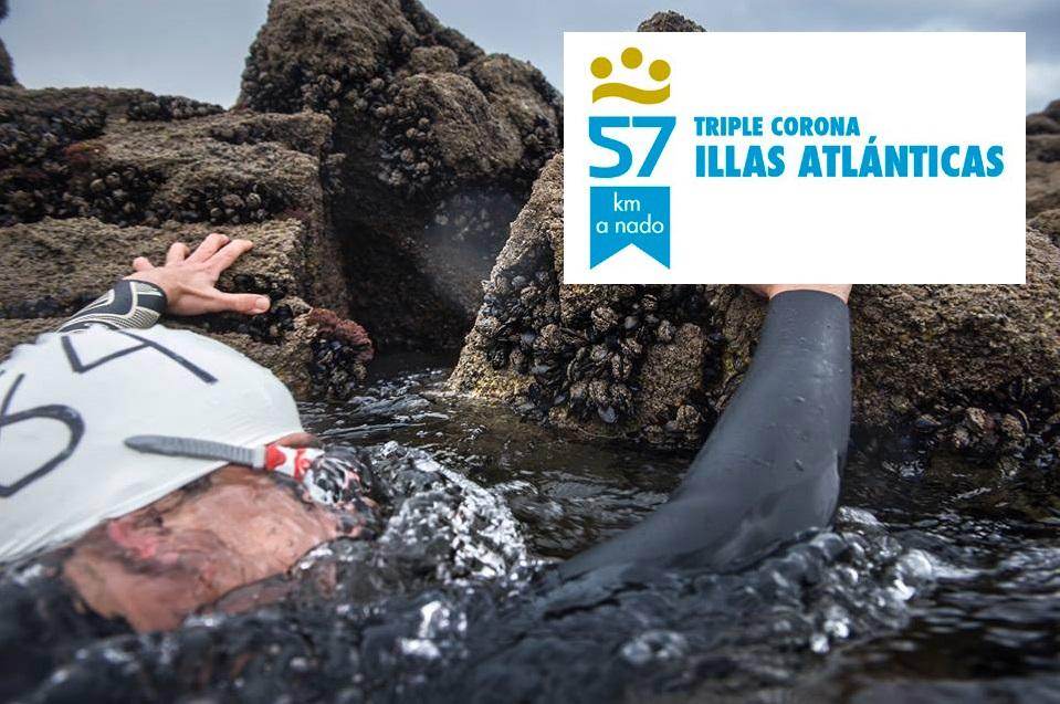 57 km a nado. Tripla Coroa Illas Atlánticas. Da illa á terra